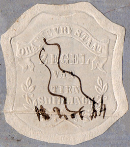 (09) 10/- Embossed on White Paper (1856)