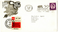 50th Anniversary Flight Cover (1961)
