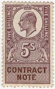 (16) 5/- Lilac & Brown (1907)