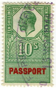 (16) 10/- Green & Red (1940)
