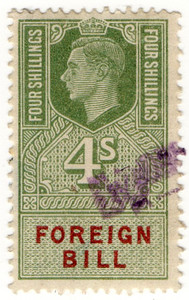 (208) 4/- Green & Red (1948)