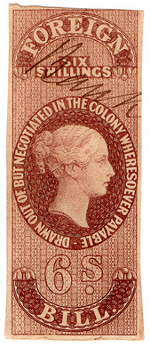 (09) 6/- Purple-Brown (1862)