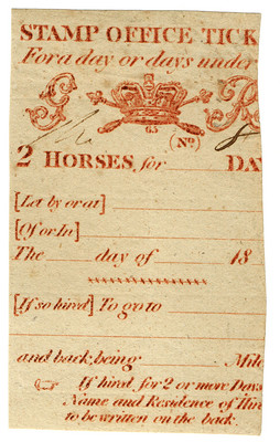 (34) Stamp Office Ticket (1817)