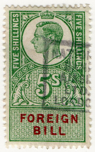 (209) 5/- Green & Red (1948)