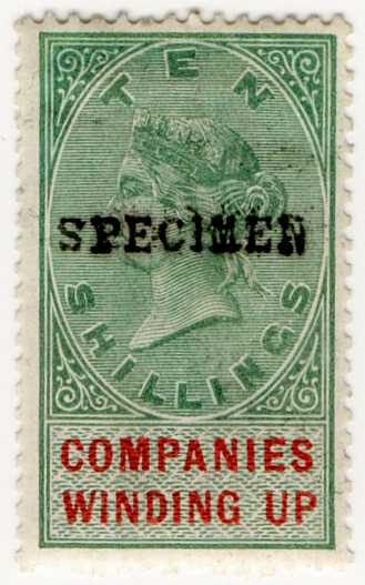 (09) 10/- Green & Red (1891)