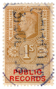 (37) 1/- Gold & Vermillion (1947)