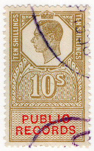 (40) 10/- Gold & Vermillion (1947)
