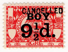 (53) 9½d Red (1921)