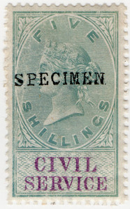 (22) 5/- Green & Lilac (1879)