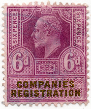 (17) 6d Purple & Green (1902)