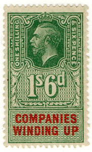 (51) 1/- Green & Red (1925)