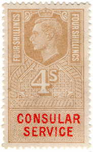 (165a) 4/- Gold & Vermillion (un)