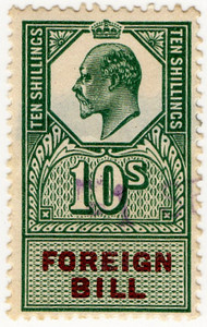 (147) 10/- Green & Brown (1907)