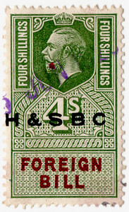 (190) 4/- Green & Red (1917)
