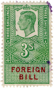 (207) 3/- Green & Red (1948)