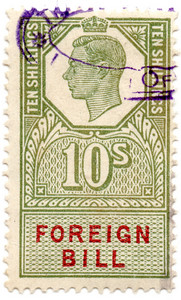 (210) 10/- Green & Red (1948)