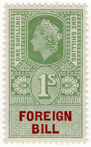 (222) 1/- Green & Red (1959)