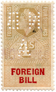 (225a) 4/- Gold & Red (1959)