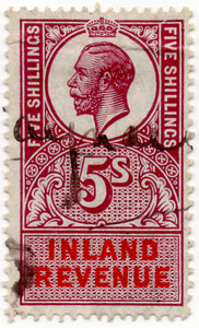 (46) Purple & Vermillion 5/- (1921)