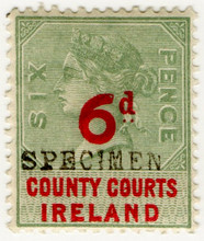 (38) 6d Green & Red (1895)