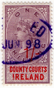 (28) 1/- Lilac & Red (1895)