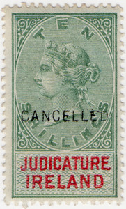 (10) 10/- Green & Red (1878)