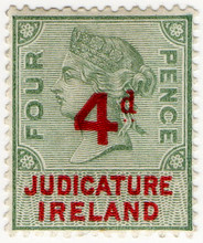 (41) 4d Green & Red (1895)