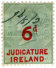 (42) 6d Green & Red (1895)