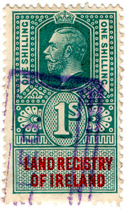 (12) 1/- Blue-Green & Red (1912)