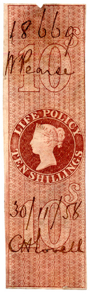 (07) 10/- Red-Brown (1854)