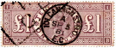 (L236) £1 Brown-Lilac (plate 1)