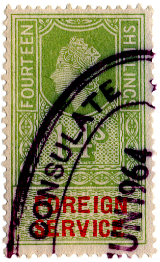 (28) 14/- Green Vermillion (1959)