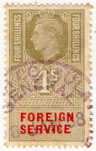 (06) 4/- Light Olive & Vermillion (1951)