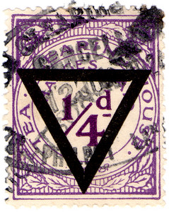 (21) ¼d Purple & Black (1924)