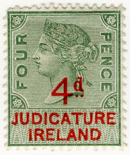 (29) 4d Green & Red (1895)