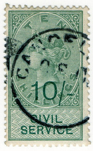 (35) 10/- Green on Green (1895)