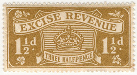 (03) 1½d Yellow-Bistre (1916)