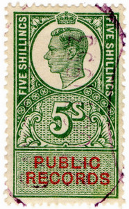 (39) 5/- Green & Vermillion (1947)