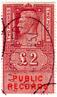 (42) £2 Claret Red & Vermillion (1947)