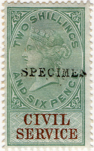(26) 2/6d Green & Brown (1881)