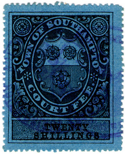 (19) 20/- Black on Blue (1878)