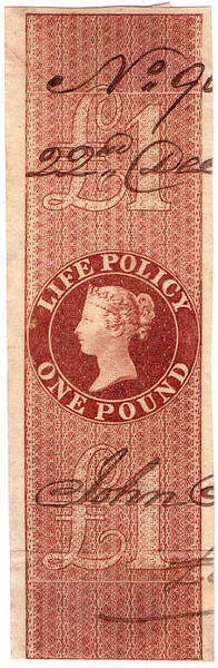 (08) £1 Red-Brown (1854)