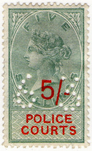(16) 5/- Green & Vermillion (1895)