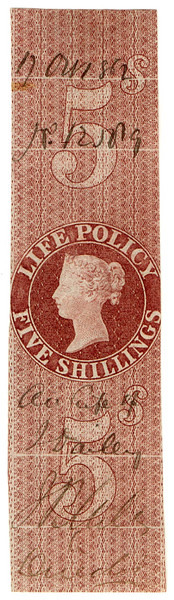 (14) 5/- Red-Brown (1860)