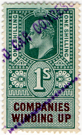 (24) 1/- Green & Purple (1902)
