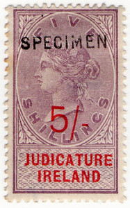 (35) 5/- Lilac & Red (1895)