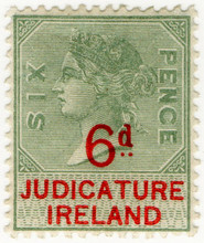 (30) 6d Green & Red (1895)