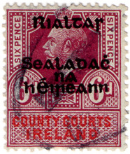 (90) 6d Lilac & Red (1922)