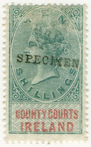 (11) 10/- Green & Red (1878)