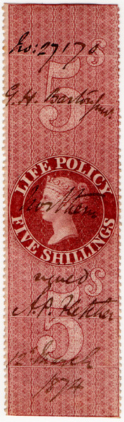 (41) 5/- Red-Brown (1872)